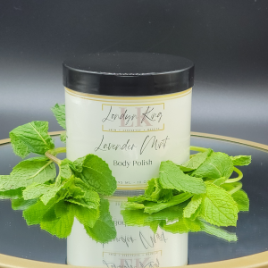 Lavender Mint Body Polish with Mint leaves